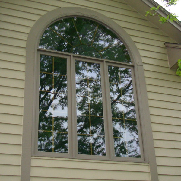 Exterior Roundtop Window After